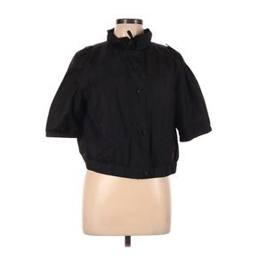 Chico's black short sleeve windbreaker size 2